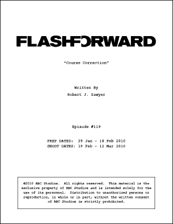 [FlashForward script cover]